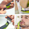 180 Degrees Waterproof Rechargeable Electric Razor Shaver - GREEN APPLE