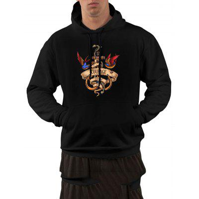 Men's Hoodie Casual Cotton Hooded Double Pockets