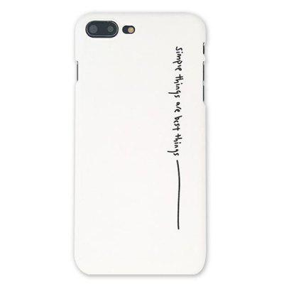 Individual English Semi-packed Matte Hard Case for iPhone 8 Plus