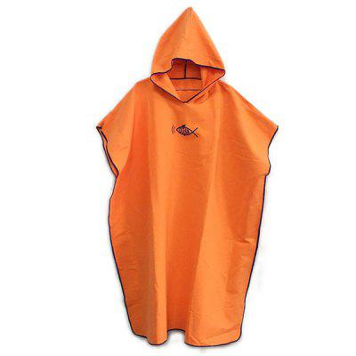 Beach Swimming Dressing Cloak Multi-color Adult Quick-drying Hooded Bathrobe