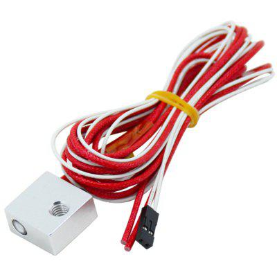 Heizungsaluminiumblöcke 100k Thermistor mit Kabel 12V 40W Patrone Cotton Isolation Kit 3D Drucker Teile