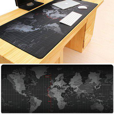 World Map Mouse Pad Oversized Non-slip Desktop Keyboard Mat