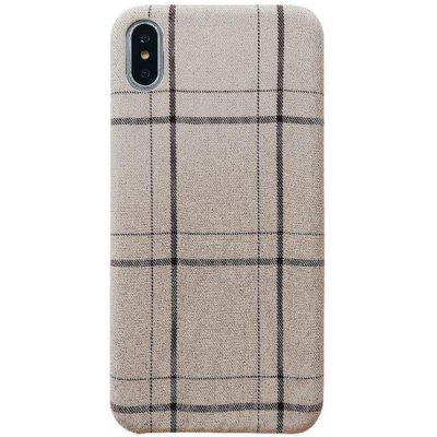 Flannel Plaid Fabric Checkered Plush Soft Shell for iPhone XS