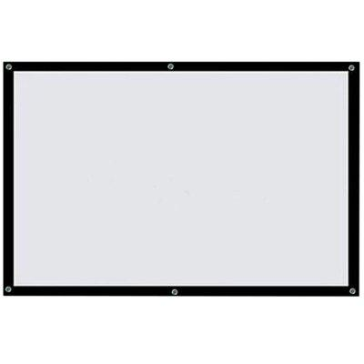 Thinyou Roll up HD PVC Projector Screen 84 inch 16:9 Portable Projection Curtain