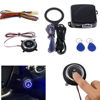 Car 12V One Button Start Smart Alarm RFID Sensor Lock