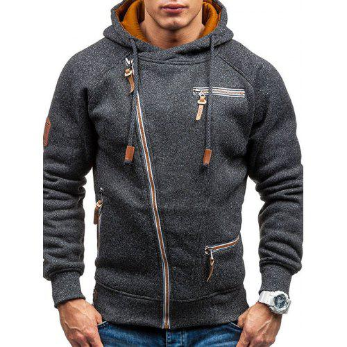 Men Personality Side Zipper Hooded Comfortable Hoodie