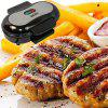 Household Mini Steak Burger Omelette Panini Sandwich Bread Barbecue Machine - GUNMETAL