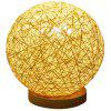C22RL - AN Unique Woven Rattan Ball Table Lamp Support HUAWEI HiLink - BEIGE