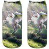 Fashion Ladies Unicorn 3D Printed Socks - MILK WHITE