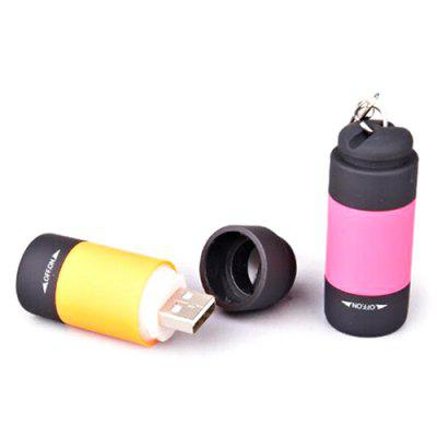 Portable Mini USB Charging Keychain Flashlight
