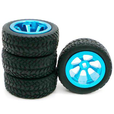 RC Upgrade Parts Aluminium Tire dla WLtoys 1/28 RC Car K969 K989 K999 P929 4WD Short Course Drift Off Road Rally 4szt