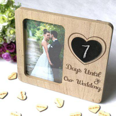 Wooden Country Vintage Wedding Blackboard Photo Frame