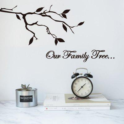 Xd211 Our Family Tree Living Room Bedroom Wall Sticker Vinyl Carved