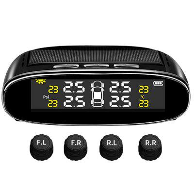 Car Tire Pressure Monitoring System Solar Power Wireless TPMS