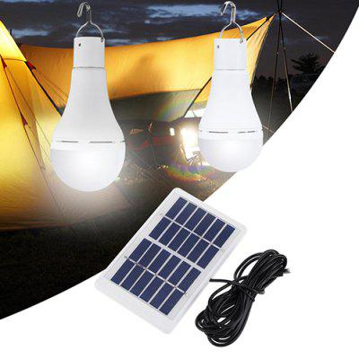 BLS - 60 - 20D Portable Bulb-shape Solar Power Light for Camping