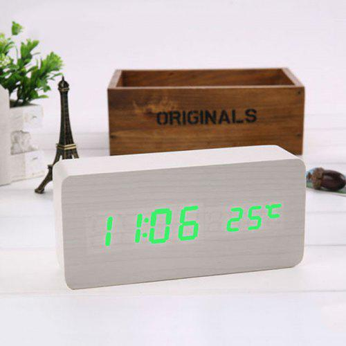 432a71749 Watch LED Wood Clock Voice Control Alarm Clock Creative Electronic Clock  Upgrade Temperature Version Can Be Silk Screen -  18.12 Free  Shipping