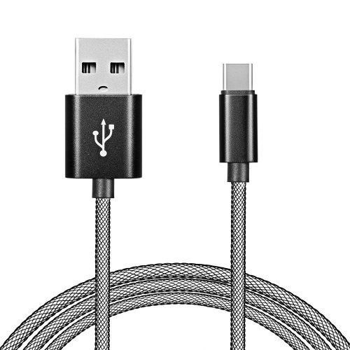 gocomma USB3.1 Fishing Network Cable for Android Type-C 2A Fast Charge - BLACK 1PC
