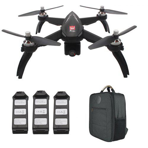 MJX Bugs 5W ( B5W ) WiFi FPV RC Drone – Black 3 Batteries + 1 Backpack 263610407 1080P Camera / Waypoints / Point of Interest / Altitude Hold / One Key Follow