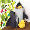 Creative Cartoon Felt Clothing Storage Basket - DARK SLATE GREY