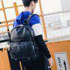 Men's Travel Fashion Leather Casual Laptop Bag - BLACK