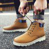Casual Comfortable High-top Boots for Men - BROWN
