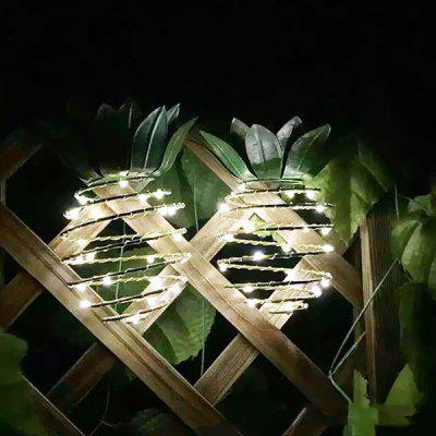 Portable Solar Iron Pineapple Light 2PCS