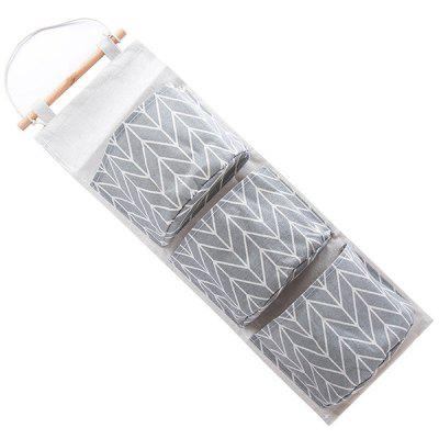Fabric Three-grid Storage Hanging Bag
