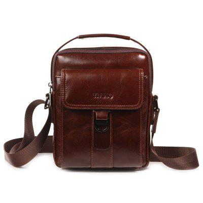 YIANG 8062 Men's Pure Leather Backpack Casual Outdoor Crossbody Bag