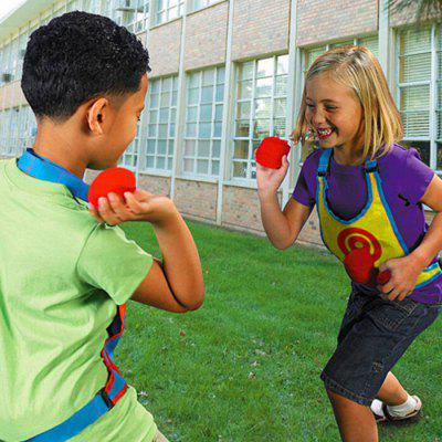 Sticky Ball Target Vest Loop-and-haak Design Kleuterschool Throwing Game Props Toy