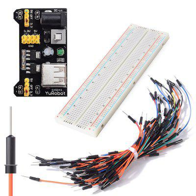 MB102 830 Point Solderless PCB Breadboard Set Jump Cable Wires Power Starter Kit