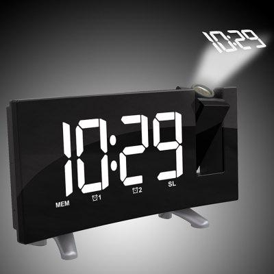 LED Display Digital Projection Alarm Clock