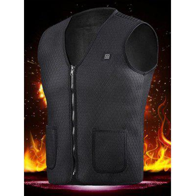 Gearbest Men Fashion Heating Charging Warm Vest