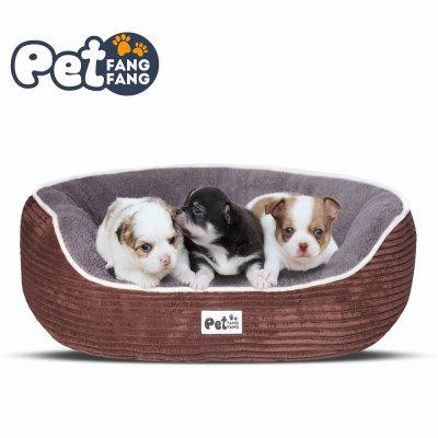 Striped Corduroy Warm Pet Bed for Cat / Dog