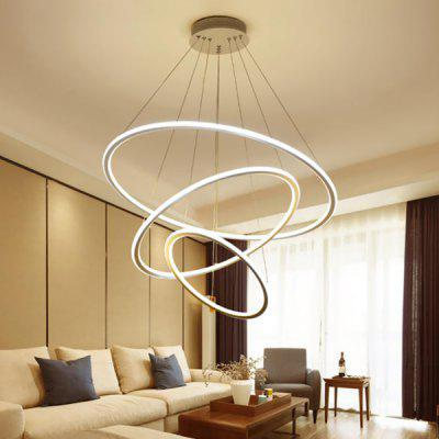 Dimming Ring LED Pendant Light with Remote Control for Home AC220V