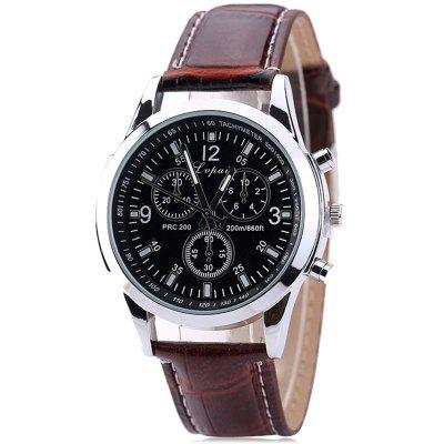 Lvpai P647 Men Pattern PU Leather Fashion Watch