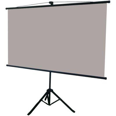 Portable Retractable High Brightness Anti-light Projector Screen 100 inch 16:9 with Floor Metal Bracket Reflective Fabric Curtain