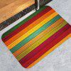 Printed Colorful Wood Pattern Anti-slip Floor Mat for Living Room Bathroom Kitchen - MULTI