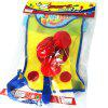 Sticky Ball Target Vest Loop-and-hook Design Kindergarten Throwing Game Props Toy - MULTI-A