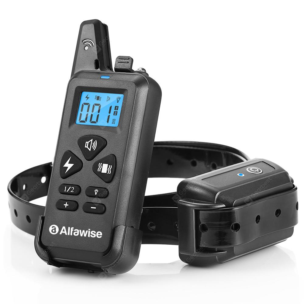 Alfawise 3 in 1 Waterproof Remote Dog Training Collar - Black