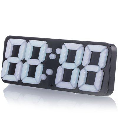 LED Large 3D Digital Display Alarm Clock Temperature USB Voice Remote Control