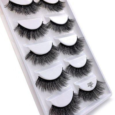 G802 3D Handmade False Eyelashes 5 Pairs
