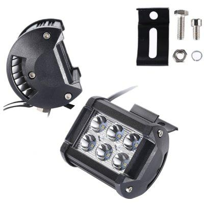 Double Row 6 LED Work Light 18W Spotlight Inspection Modified Off-road Vehicle Strip Lamp
