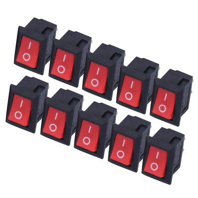 KCD11 - 101 3A 250V Red Button Rocker Switch 2-pin ON / OFF Boat Rocker Switch Car Dash Dashboard Truck RV ATV Home