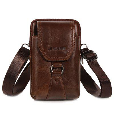 YIANG 0004 Men Vertical Top Layer Leather Multifunction Pouch Bag