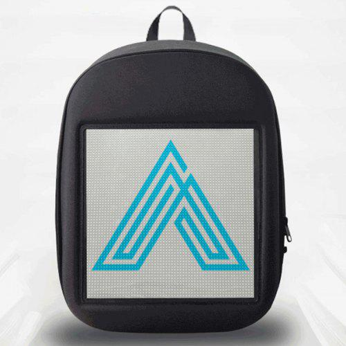 Creative Design LED Display Screen Backpack APP Control Pattern Free to Change - GRAY