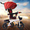 ICOSY Lightly Tricycle Bicycle Baby Trolley Stroller - RED