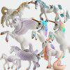Unicorn Doll Toy simulare Mini model animal - MULTI-B