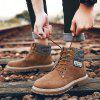 Leather Boots British Tooling Retro Tide Shoes - BROWN