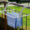 Outdoor Bedroom Foldable Clothes Drying Rack Hanger - WHITE
