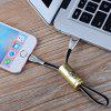 USB Cable 2.4A Bullet Fast Charging USB Data Cable for Samsung Xiaomi LG Tablet Android Phone USB Charging Cable - BRONZE